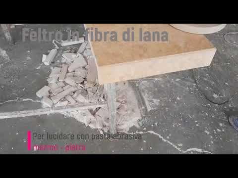 Feltro in Fibra di Lana per Lucidare Marmo Metallo