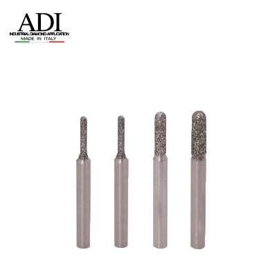 Frese Elettrodepositate cilindrica testa raggiata gambo 6 mm