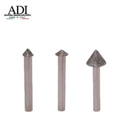 Frese Elettrodepositate conica gambo 6 mm