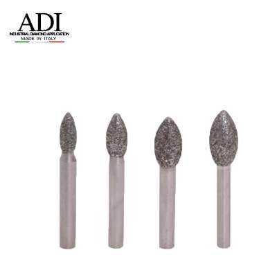 Frese Elettrodepositate ogiva gambo 6 mm