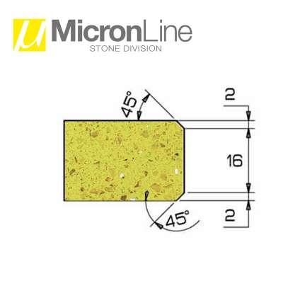 Mola diamantata Profilo AR 20 per macchine CNC