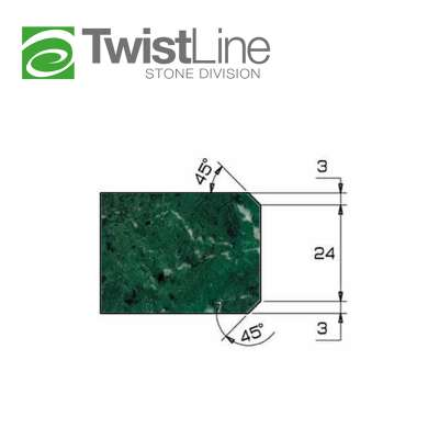 Mola diamantata Profilo AR 30 per macchine CNC