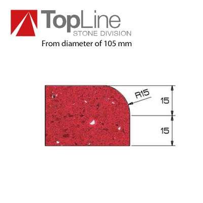 Mola Diamantata Profilo A 30 R. 15 mm.