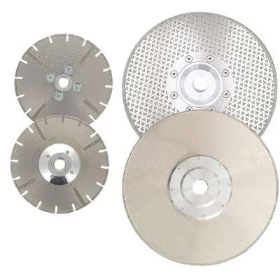 Dischi diamantati elettrodeposti per taglio marmo